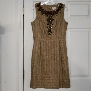Milly of New York Tweed Beaded Dress Size 10